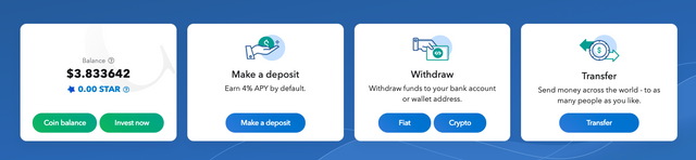 MyConstant deposit